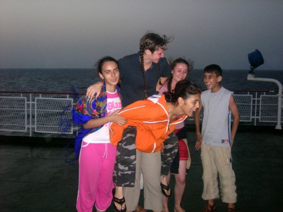 On the boat crossing the Caspian to Armenia