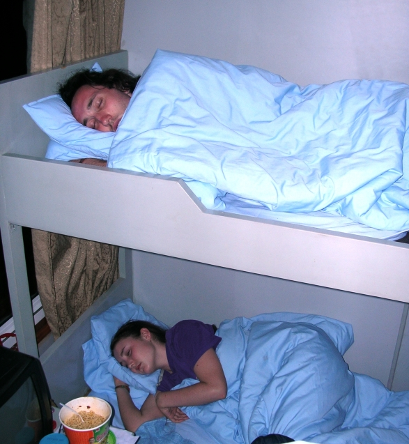 Oh, and I was on a boat for three days! My first one ever to sleep on. I felt like I was on Titanic (I'm such a geek) hehe.