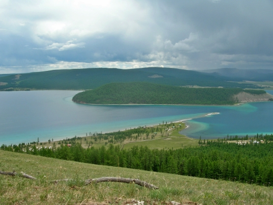 """""""Wow! This is gorgeous,"""" I heard Mom gasp as she looked out over Lake Khovsgol."""