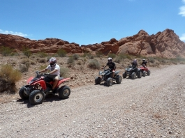 ATV's in the Mojave desert
