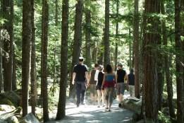Hiking to Brandywine Falls. BC