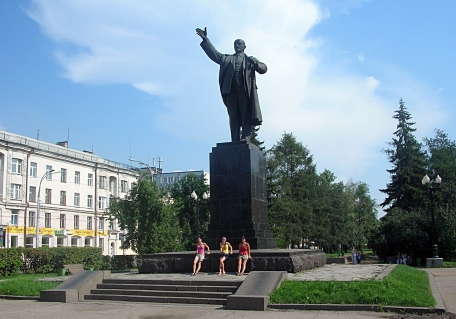 Lenin Tomsk, Russia. Backpacks and Bra Straps ch 4