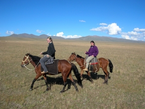Horse country Song Kol, KyrgystanBackpacks and Bra Straps