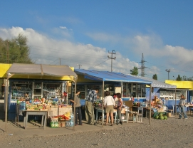 market in rural Kyrgyzstan