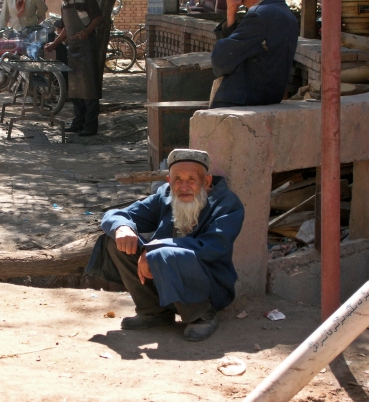 old man in Kashgar, China