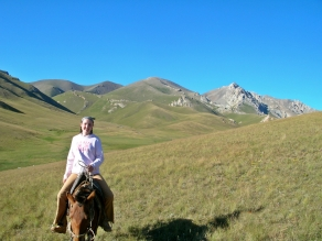 Horse country Song Kol, Kyrgystan, Backpacks and Bra Straps