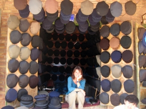 Hat shop,Kashgar, China