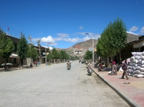 Gyantse, Friendship Highway, China, Backpacks and Bra Straps