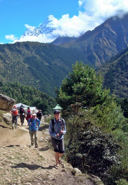Trekking in Nepal, Backpacks and Bra Straps.