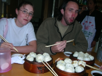 Momos in Tibet. Backpacks and Bra Straps