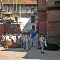 school kids in Kathmandu, Nepal. Backpacks and Bra Straps
