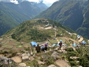 Trekking in NepalBackpacks and Bra Straps.