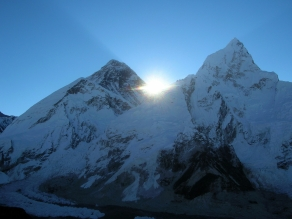 Mt Everest, Trekking in Nepal. Backpacks and Bra Straps