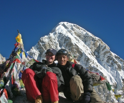 Kala Patthar, Trekking in Nepal. Backpacks and Bra Straps