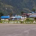 Lukla Airport, Nepal. Backpacks and Bra Straps