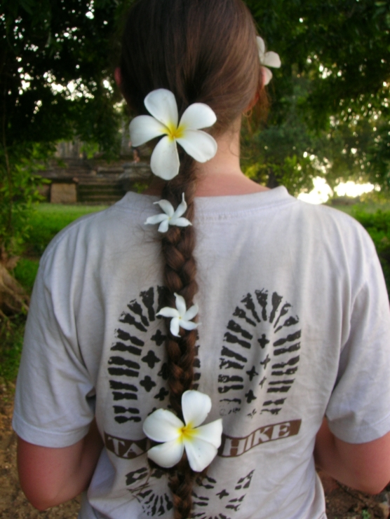 Beautiful hair. Bacipacks and Bra Straps