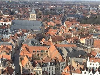 A view from the City Tower in Brugge, Belguim