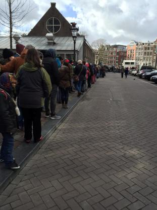 line up for Anne Frank - Savannah Grace