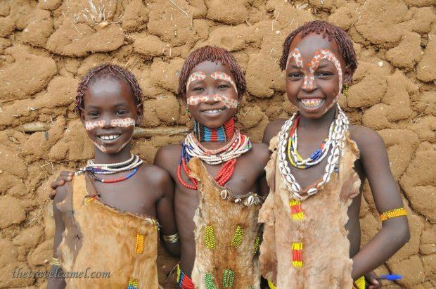 Hamer children, Turmi, Ethiopia
