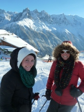 Maggie-the-Mom, ski in France