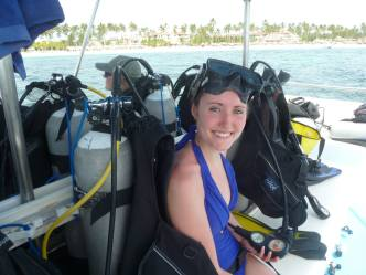 Savannah Grace, Dominican Republic, scuba diving
