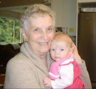 Mary Anne McCall with Grand Baby