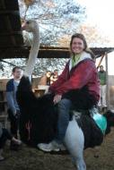 Maggie-the-Mom Ostrich ride, South Africa