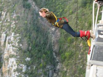 Savannah Grace, South Africa Bungee Jumping