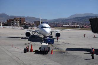 Flying to Peru
