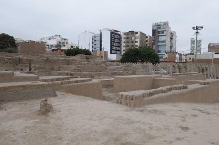 1,500 year old ruins of Huaca Pucllana pyramids. Peru