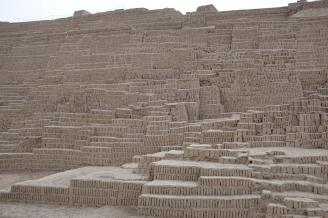 1,500 year old ruins of Huaca Pucllana pyramids, Peru