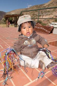 spectacular beautiful countryside of Peru, little kid