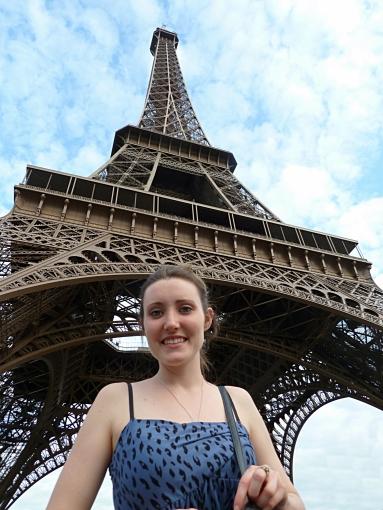 Eiffel Tower in Paris, France. Savannah Grace