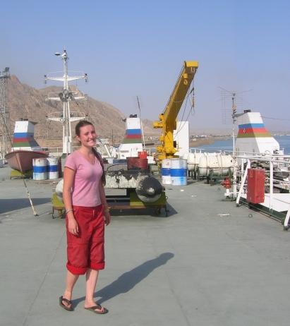 Caspian Sea into Azerbaijan. Savannah Grace