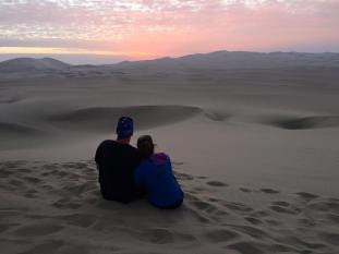 desert sunset. Peru.  Savannah Grace