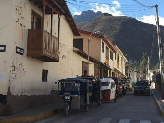 tuktuks on the streets of, Urubamba Peru
