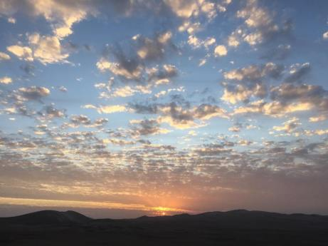sunset Peru