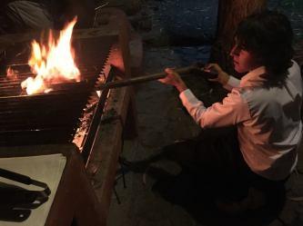 BBQ time at the Sacred Dreams Lodge, Urubamba, Peru