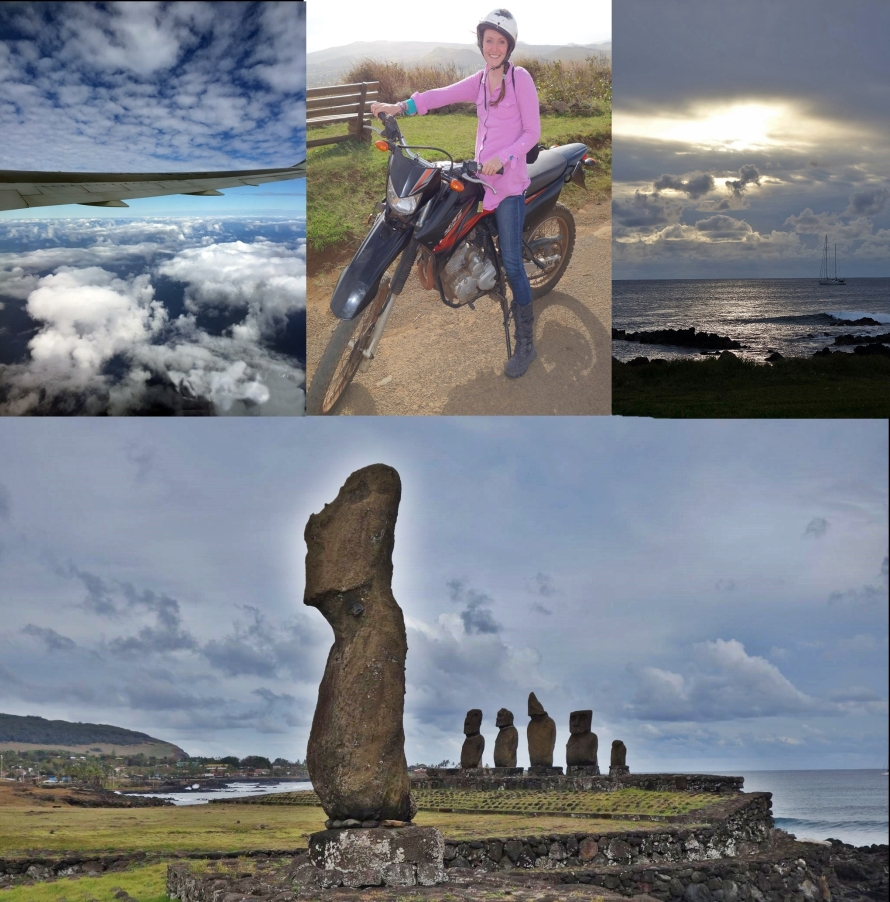 Hours by plane from any continent, exploring Easter Island by motorcycle was dreamy. Zooming down empty trails, passing roaming horses and ancient Moai statues which overlook a vast blue ocean.