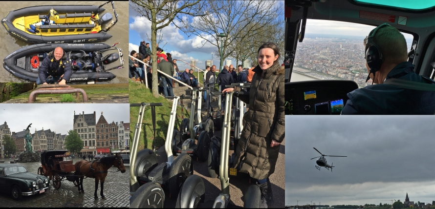 Antwerp - We helped a friend with his Segway, helicopter and speed boat tours. Of course we were able to participate in all of the above activities too!