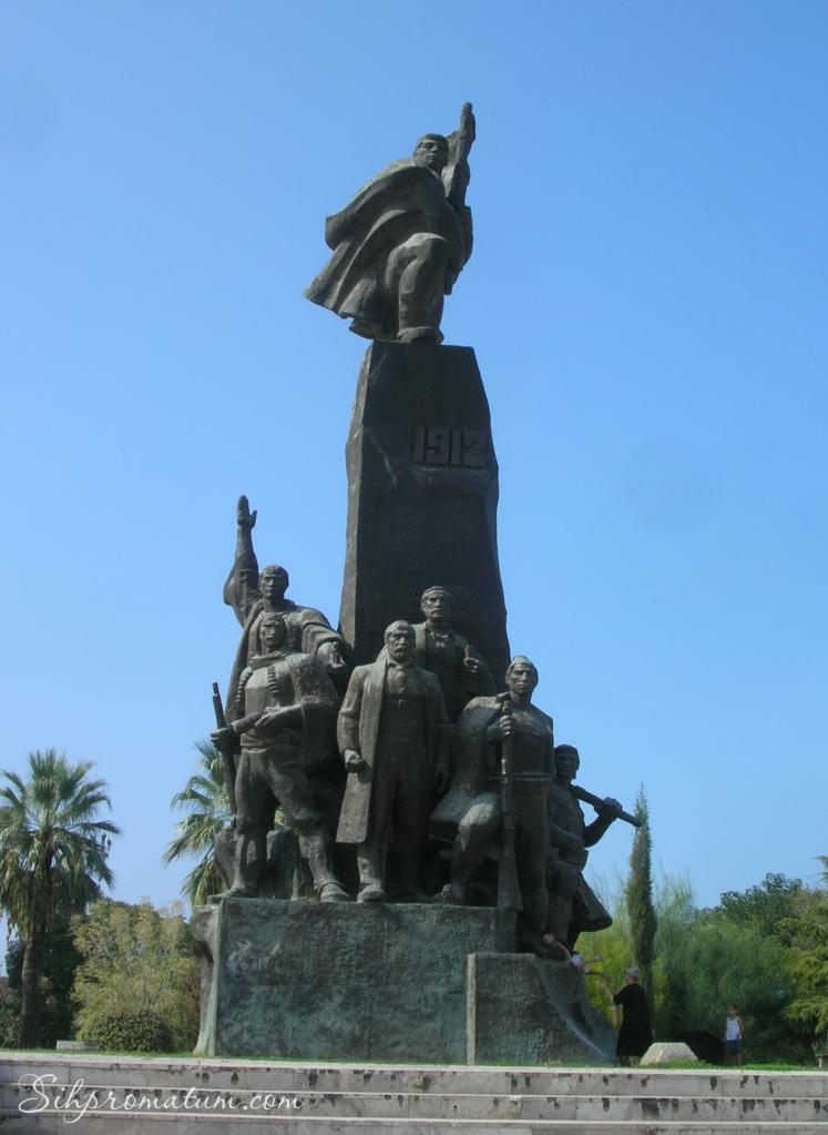 flag monument - vlora Albania