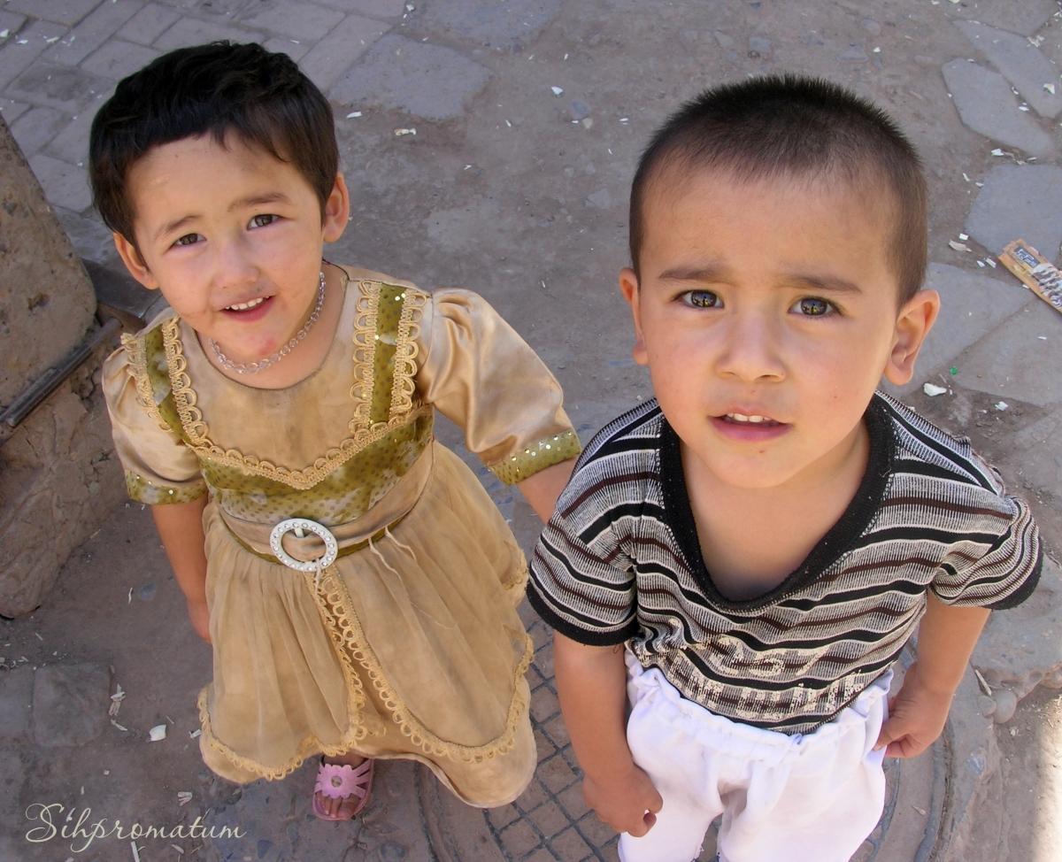 Kashgar kids ,China