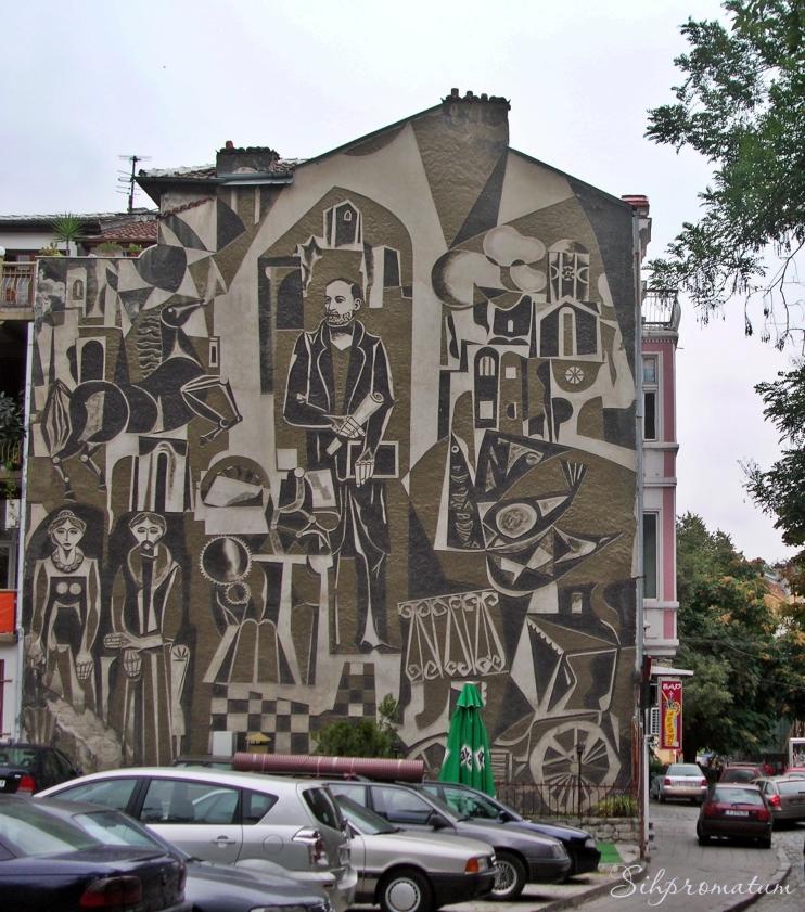 Hristo Danov Mural In Old Plovdiv