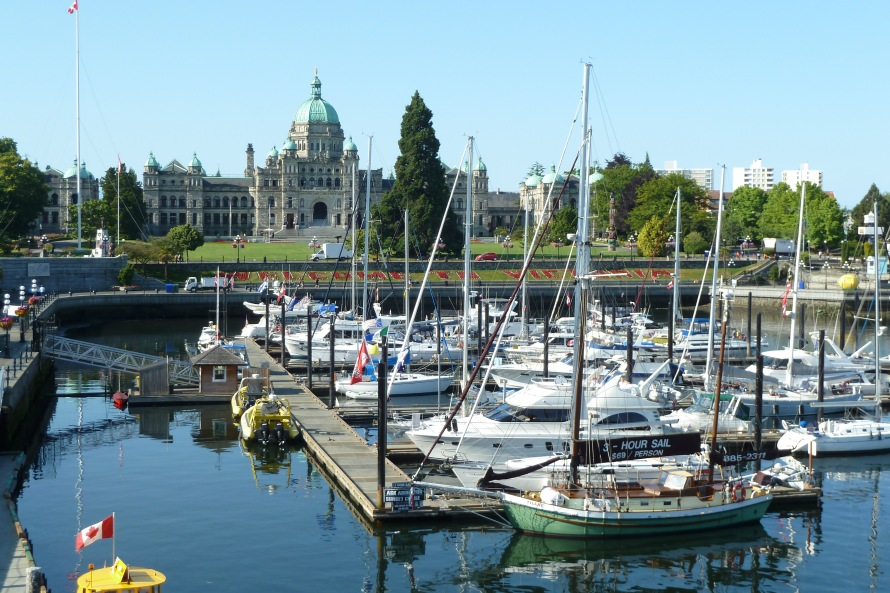 Victoria Harbour on Vancouver Island. BC