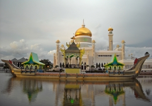 Sultan Omar Ali Saifuddien Mosque was built in 1958