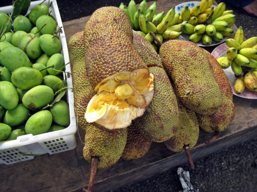 Jackfruit fresh in the market
