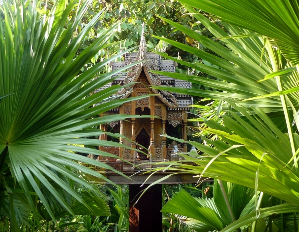 This is a lovely little shrine at our hotel complex in Siem Reap