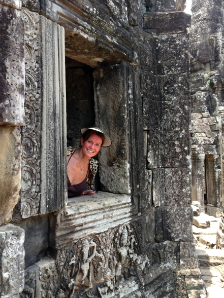 Maggie loving Ankor Wat
