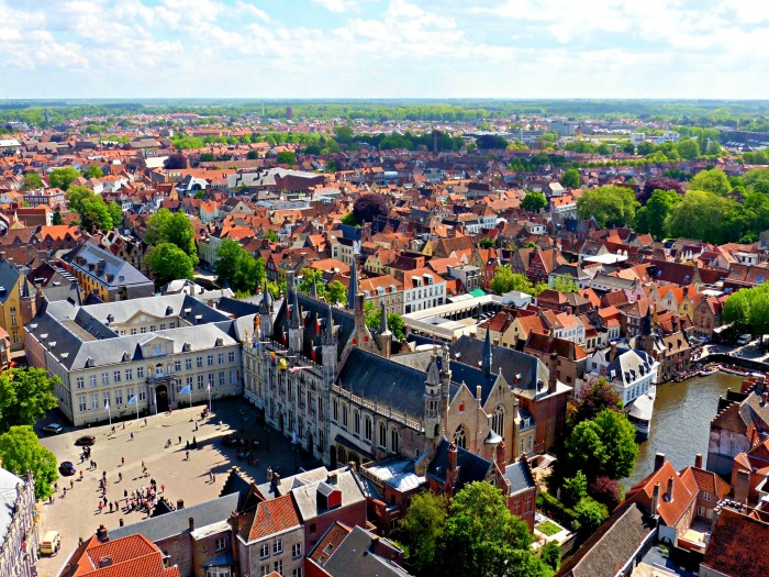 Bruges, Belgium from the top of the Belfry Tower