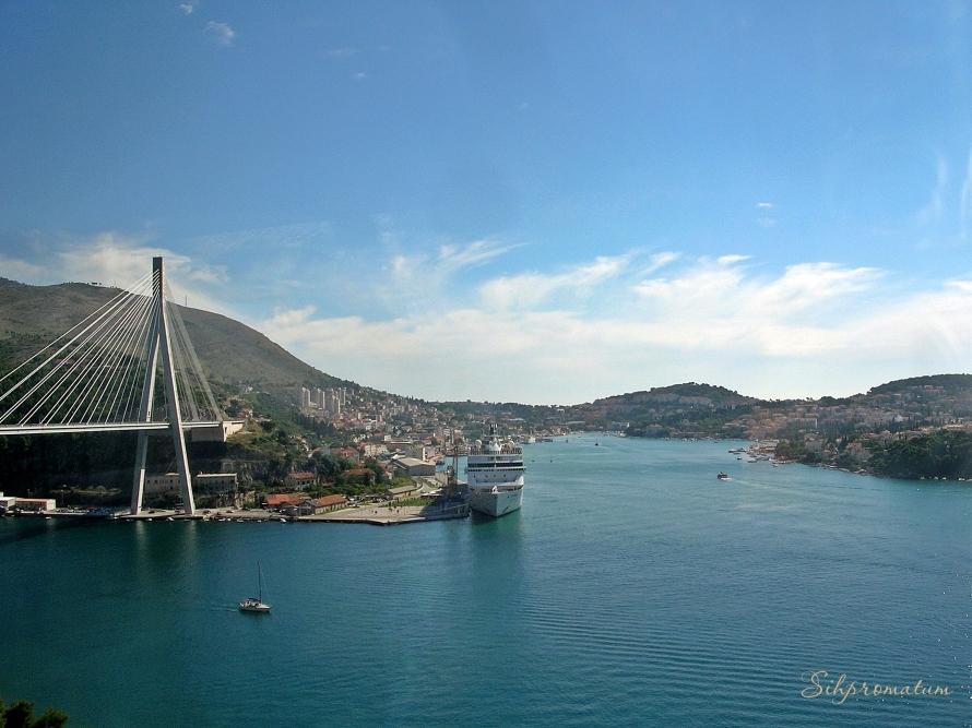 Franjo Tuđman Bridge, Adriatic Sea